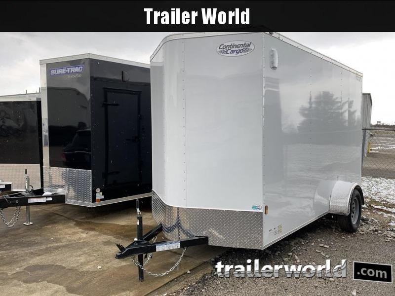 2020 Continental Cargo 6' x 12' x 7.3' Enclosed Cargo Trailer