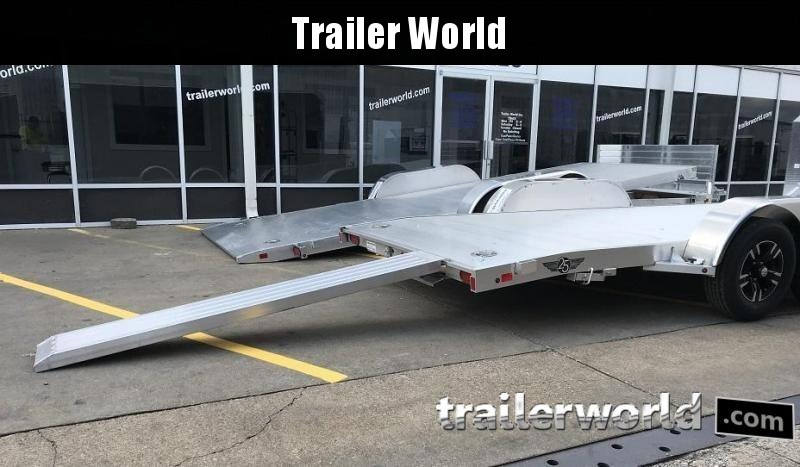2020 Aluma Anniversary Edition 8218B Aluminum Open Car Trailer