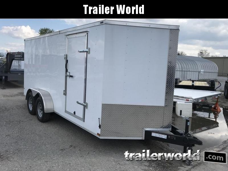 2019 Lark 7' x 16' x 6.5' Enclosed Cargo Trailer Ramp Door