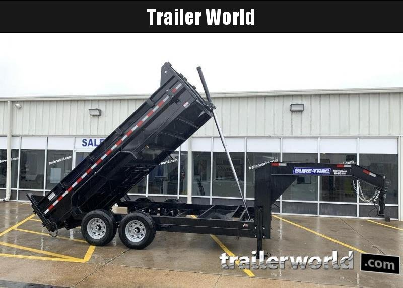 2020 Sure-Trac 14' Goose Telescopic Dump Trailer 14k GVWR