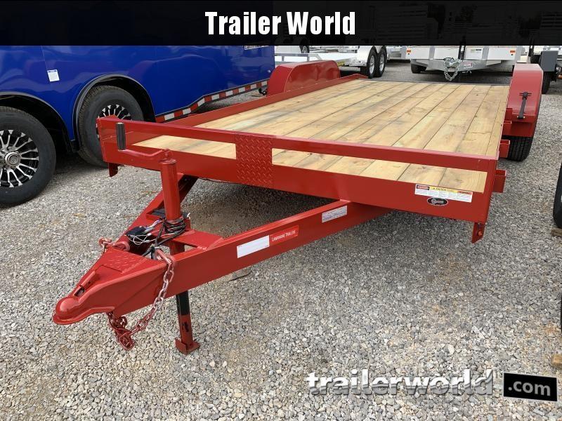 2020 Lawrimore 18' Wood Deck Car Hauler Flatbed Trailer