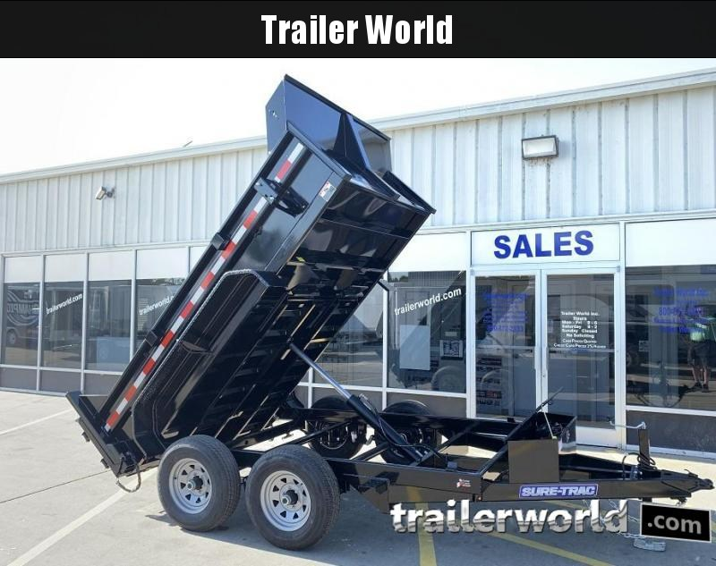 "2020 Sure-Trac 72"" x 10' Single Ram Dump Trailer 10k GVWR"