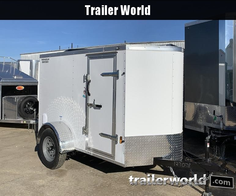 2020 Continental Cargo 5' x 8'  V nose Enclosed Cargo Trailer