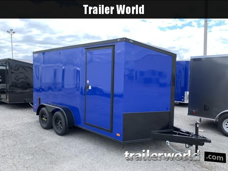 2020 CW 7' x 14' x 6.5' Vnose Enclosed Trailer Black Out