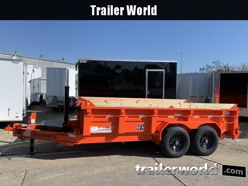 2020 Diamond C LPT 14' Telescopic Dump Trailer Low Profile