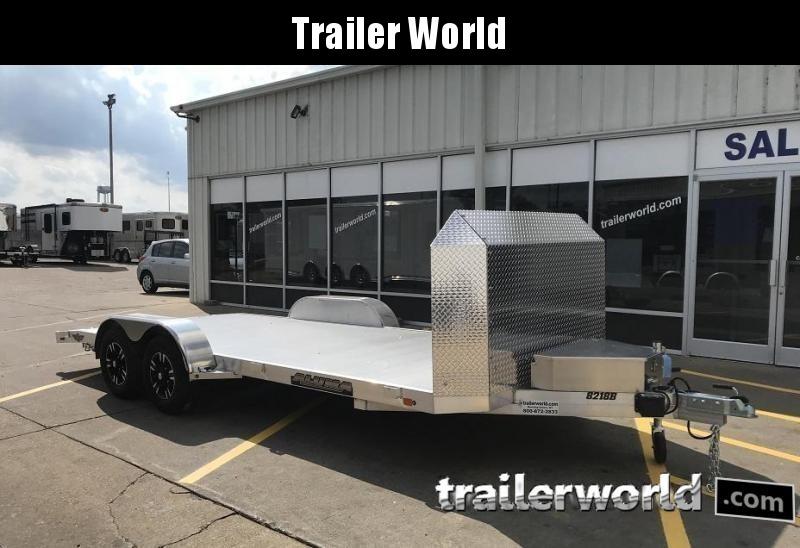 2020 Aluma Anniversary Edition 8218B Aluminum Open Car Trailer