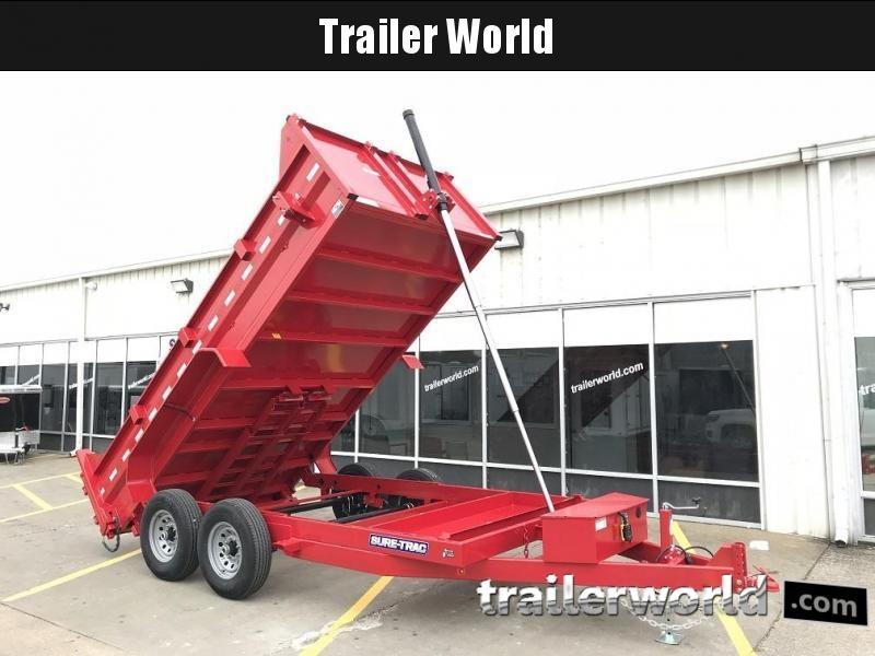 2020 Sure-Trac 14' Telescopic Dump Trailer 14k GVWR
