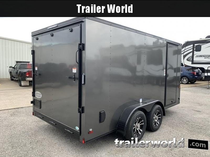 2020 Continental Cargo 7' x 14' x 6.3' Vnose Enclosed Cargo Trailer w/ D-Rings