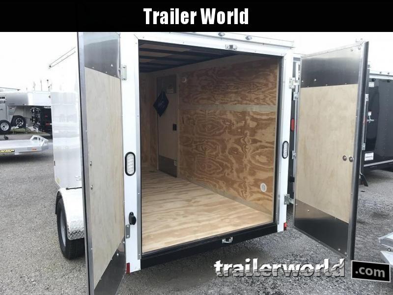 2020 Continental Cargo 6' x 12' x 6.3' Double Door Enclosed Cargo Trailer