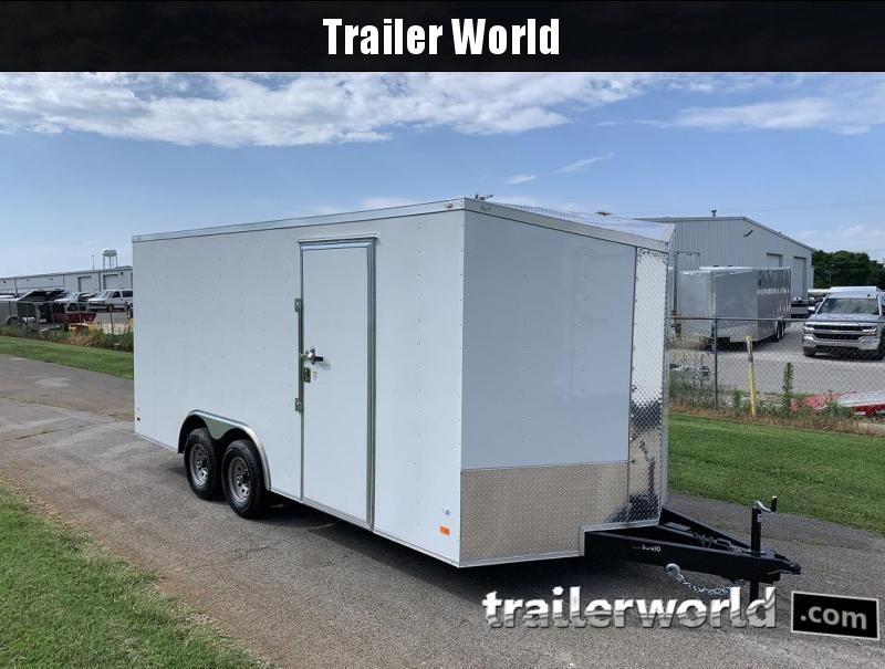 2019 CW 18' x 7' Tall Vnose Enclosed Car Trailer 10k GVWR