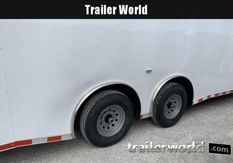 2020 Enclosed 34' Spread Axle 2 Car Hauler Trailer