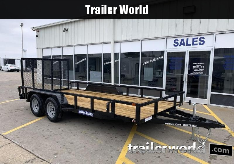 2020 Sure-Trac 7 X 16' Tube Top Utility Trailer  7K Tandem