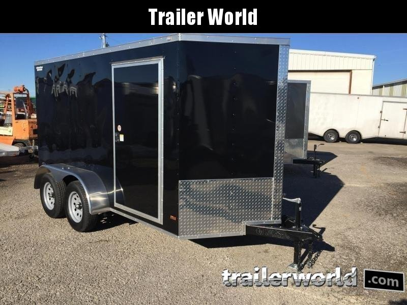 "2020 CW 6' x 12' x 6'3"" Tandem V-Nose Ramp Door Trailer"