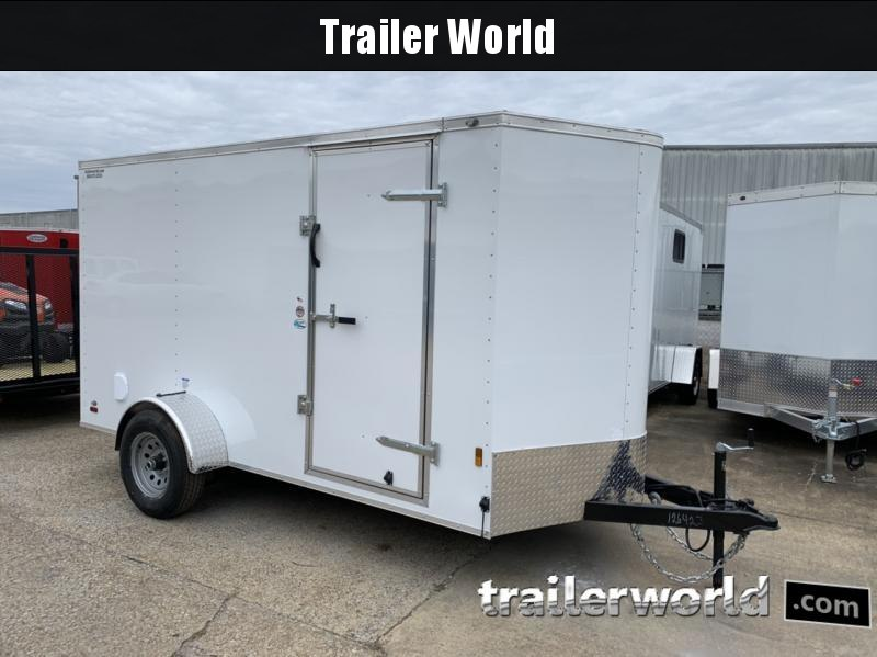 2020 Continental Cargo 6' x 12' x 6.3' Cargo Trailer 5k Electric Brake Axle