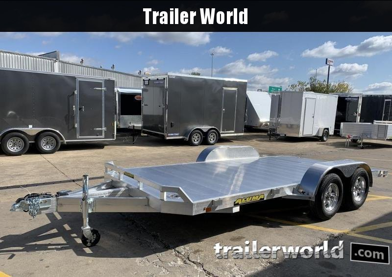 2019 Aluma 8216B 16' Aluminum Open Car Trailer