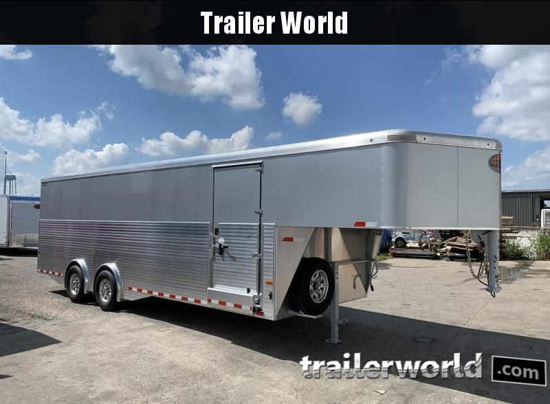 2020 Sundowner 32' Aluminum Gooseneck Cargo Trailer Spread Axles