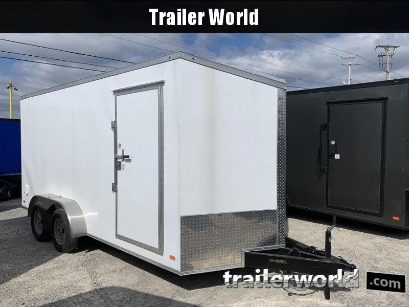 2020 CW 7' x 16' x 7' Vnose Enclosed Cargo Trailer Ramp Door