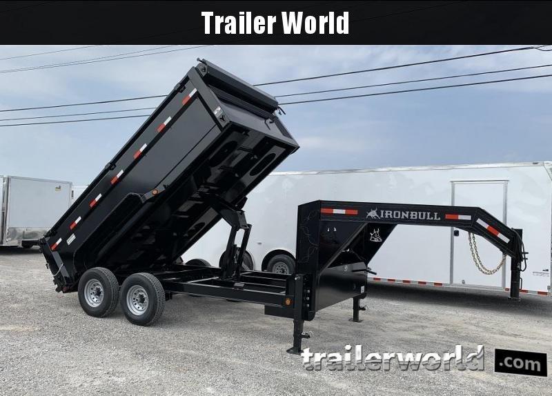 2019 Iron Bull DTG8314 14' Gooseneck Dump Trailer 14k GVWR