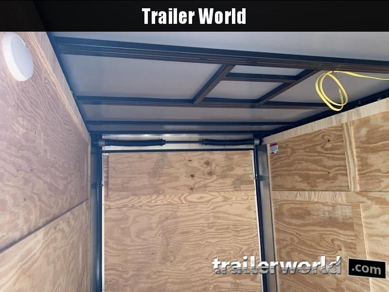 2020 CW 6' x 12' x 6'3 Vnose Enclosed Trailer Black Out