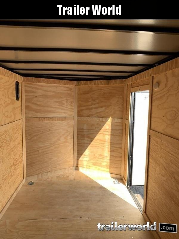 2020 CW 6' x 12' x 6'3 Vnose Enclosed Trailer Black Out