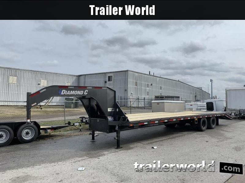 2019 Diamond C FMAX212 32' Gooseneck Flatbed Equipment Trailer 25.9k GVWR