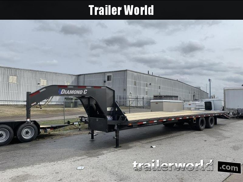 2020 Diamond C FMAX212 32' Gooseneck Flatbed Equipment Trailer 25.9k GVWR