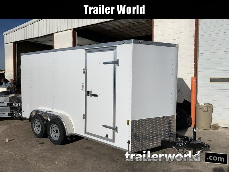 2020 Continental Cargo 7' x 14' x 6.3' Vnose Enclosed Cargo Trailer Double Doors