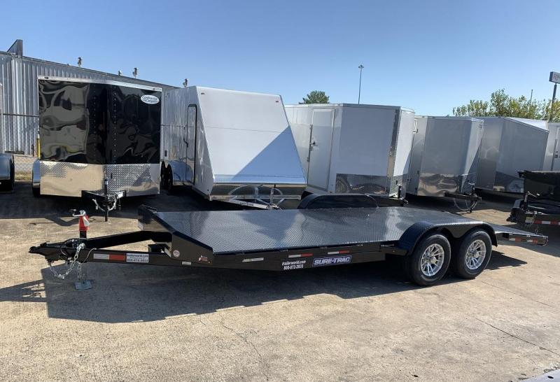 2019 Sure-Trac 20' Steel Deck Car Hauler Trailer 10k GVWR