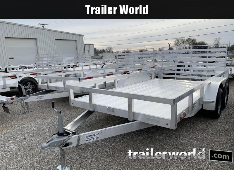 2019 Trailer World Aluminum 14' Tandem Utility Trailer