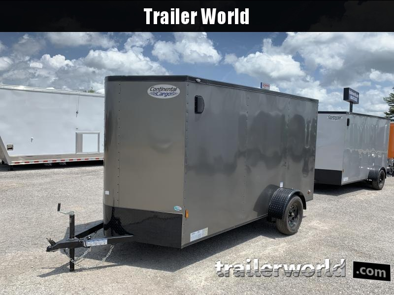 2021 Continental Cargo 6 x 12 x 6.3 Trailer w Ramp Door
