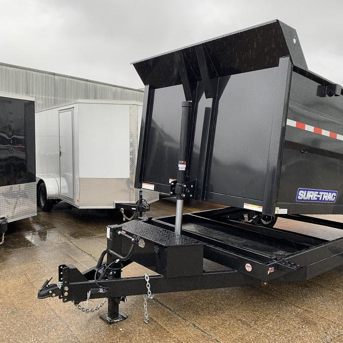 2020 Sure-Trac 14' Telescopic Dump w/ 4' Sides 14k GVWR