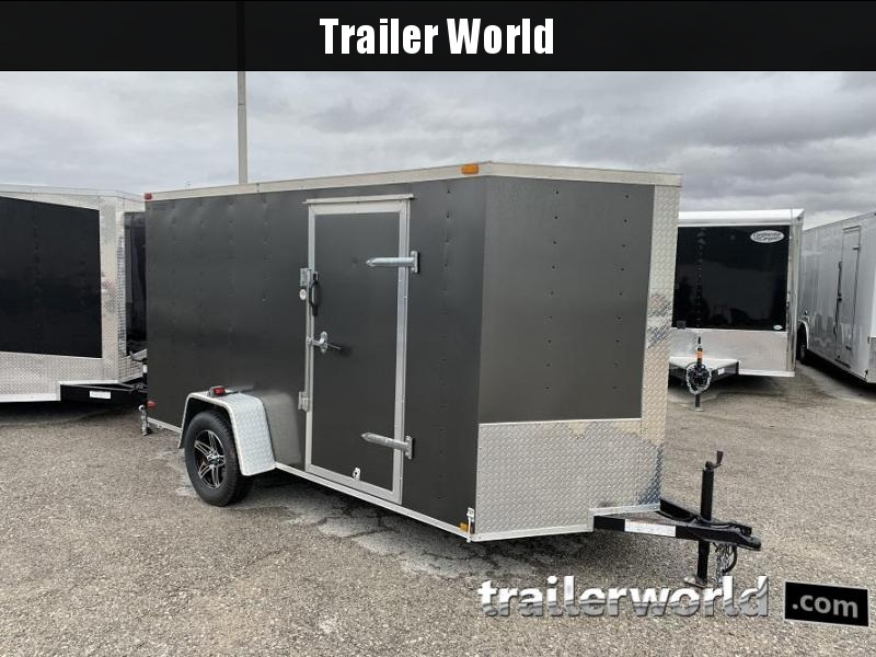 2014 Lark 6' x 12' x 6' Vnose Ramp Door Trailer