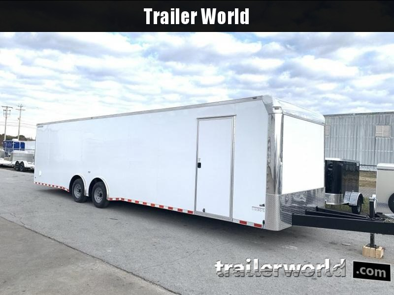 2020 Enclosed 34' Spread Axle 2 Car Hauler Trailer