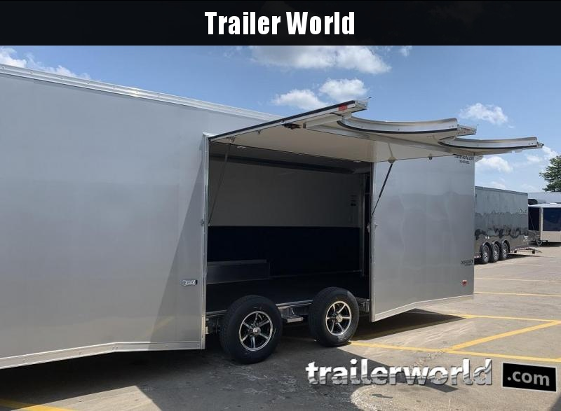2020 Bravo Silver Star Aluminum 28' Race Trailer Full Access Door