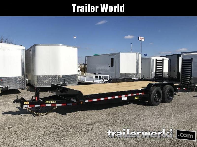 2019 Big Tex NEW MODEL 16ET-20'  Flatbed Equipment Trailer 8 Ton