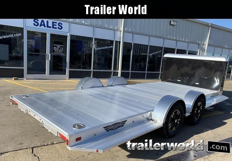 2020 Aluma Executive Series 8218-XL 18' Aluminum Open Car Trailer