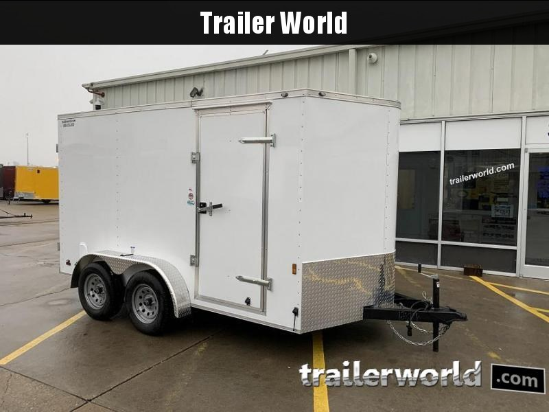 2020 Continental Cargo 7' x 12' x 6.3' Vnose Enclosed Cargo Trailer