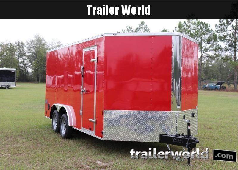 2020 Continental Cargo 8' x 16' x 6.5' Vnose Enclosed Cargo Trailer