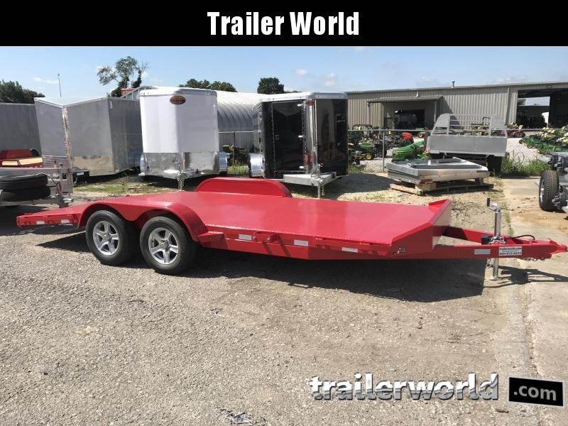 2020 Sure-Trac 18' Steel Deck Open Car Hauler Trailer