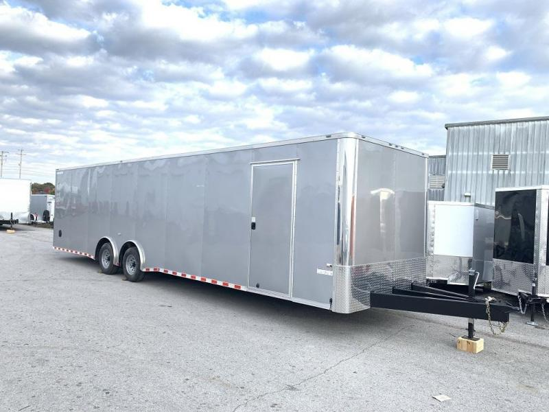 2020 34' Spread Axle Enclosed 2 Car Hauler Trailer