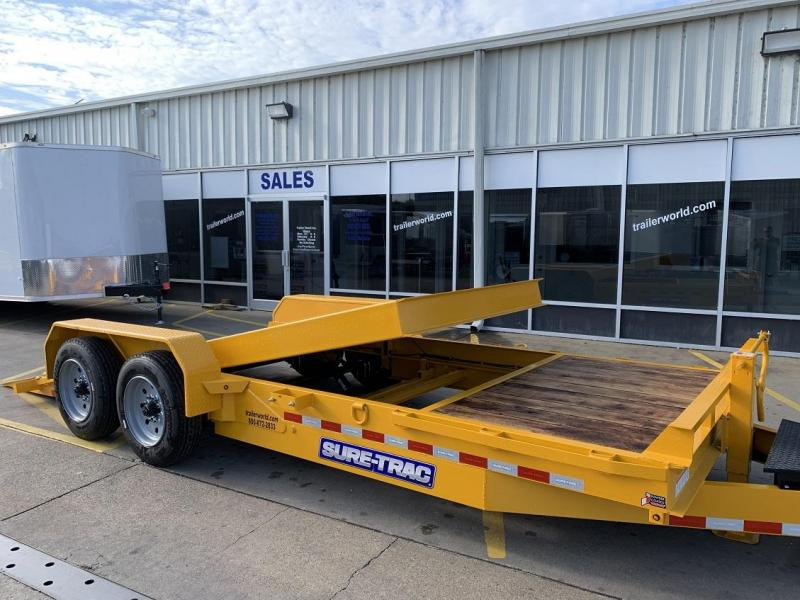 2020 Sure-Trac 16' + 4' Tilt Bed Equipment Trailer 16K