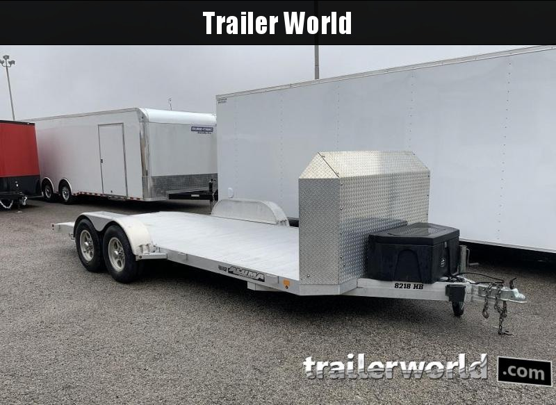 2014 Aluma 8218H B Aluminum Open Car Flatbed Trailer