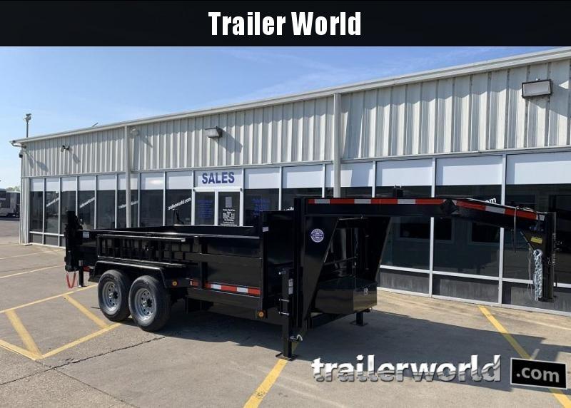 2020 QS 14' Gooseneck Dump Trailer 14K GVWR