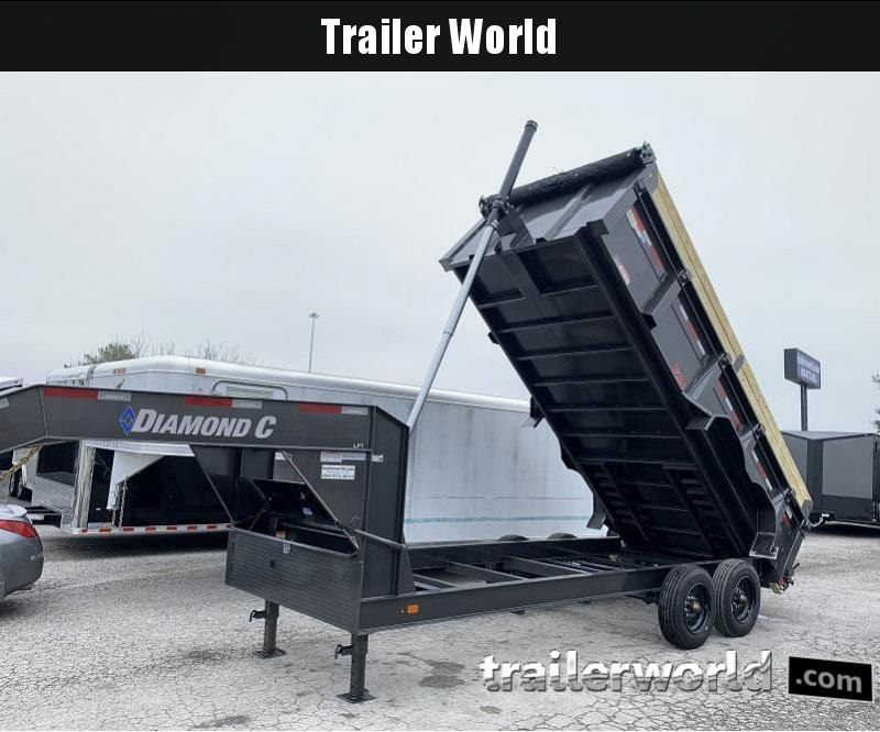 2020 Diamond C LPT 14' SUPER Gooseneck Dump Trailer Low Profile GVWR