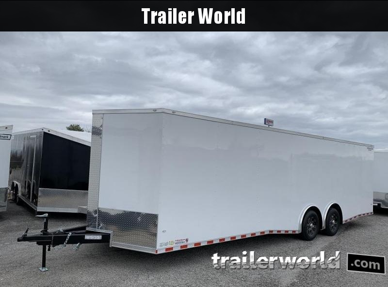 2020 CW 28' Enclosed Car Trailer Spread Axle 14k GVWR