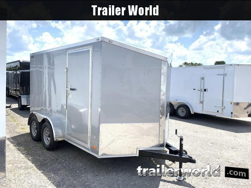 2020 CW 7' x 12' x 6.5' Vnose Enclosed Trailer Ramp Door