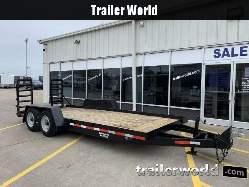 1996 Winston 18 Low Profile Skid Steer Equipment Trailer