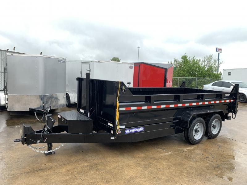 2020 Sure-Trac 16' Telescopic Dump Trailer 16k GVWR