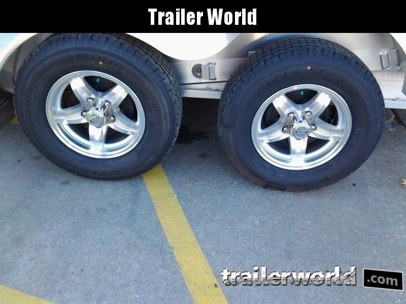 2020 Aluma 8218 Tilt Bed Aluminum Open Car Hauler Trailer