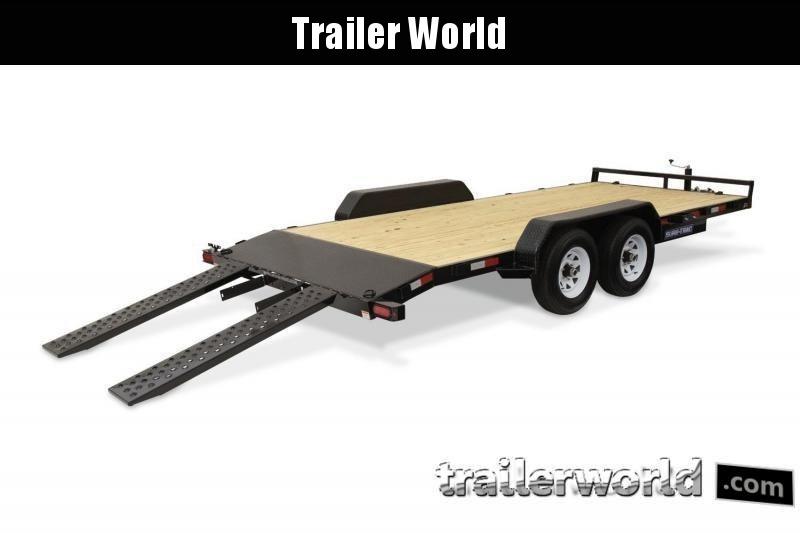 2019 Sure-Trac C-Channel 20' Wood Deck Car Hauler Trailer 10k GVWR